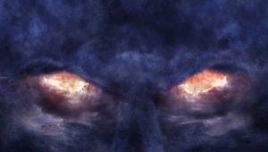 Satan in clouds