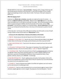 Prayer Warriors 365 Declarations and Decrees